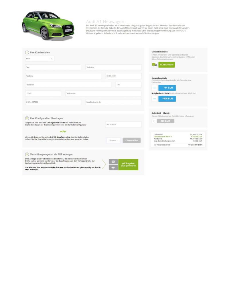 Intercar24 iCalculator daten